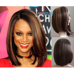 Perruque Cheveux Mi-Longs Ondulés Style Haireclair 3